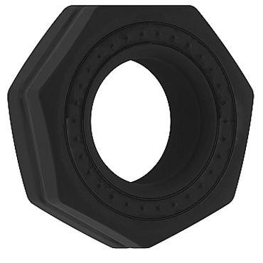 Shots Toys Sono Cockring №43, черное Эрекционное кольцо рельефной формы dream toys кольцо эрекционное