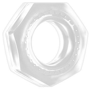 Shots Toys Sono Cockring №43, прозрачное Эрекционное кольцо рельефной формы