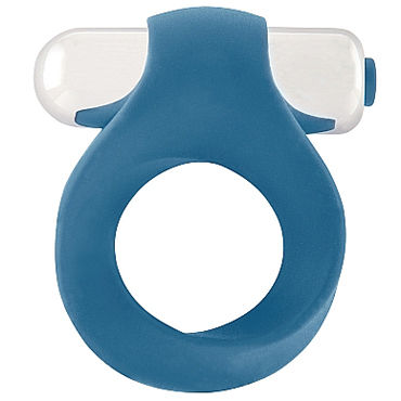 Shots Toys Infinity Single Vibrating Cockring, синее Кольцо с вибропулей