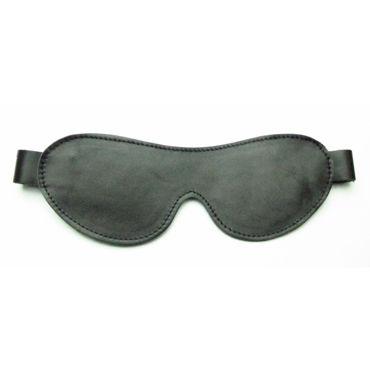 BDSM Арсенал маска на глаза, черная С кожаным ремешком