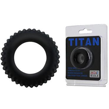 Baile Titan, черное Рельефное эрекционное кольцо steel power tools long princess wand эрекционное кольцо с катетером