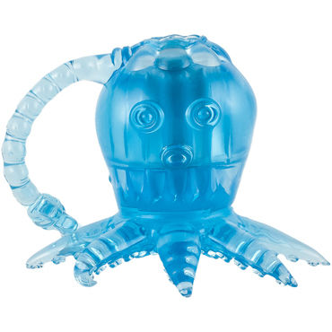 White Label Octopus, голубой Вибростимулятор осьминог гибкий вибростимулятор coco violet фиолетовый