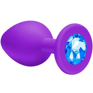 Lola Toys Emotions Cutie Small, фиолетовая Анальная пробка с голубым кристаллом vizit large презервативы увеличенного размера