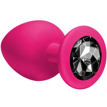 Lola Toys Emotions Cutie Large, розовая Анальная пробка с черным кристаллом анальная пробка из силикона розовая со светло зеленым кристаллом