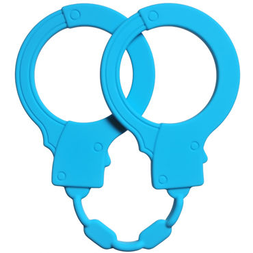 Lola Toys Stretchy Cuffs, голубые Силиконовые наручники lola toys stretchy cuffs черные силиконовые наручники