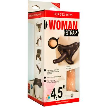 Bioclon Woman Strap 4,5, черный Женский пояс с насадками bioclon uni strap универсальный пояс для страпонов