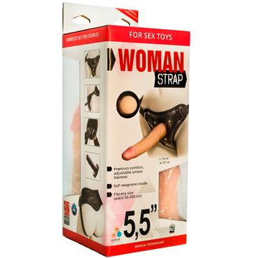 Bioclon Woman Strap 5,5, телесный Женский пояс с насадками bioclon uni strap универсальный пояс для страпонов