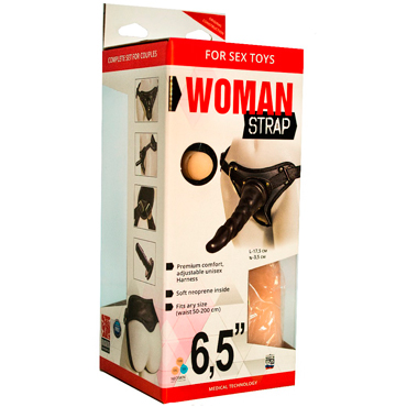 Bioclon Woman Strap 6,5, черный Женский пояс с насадками bioclon uni strap универсальный пояс для страпонов