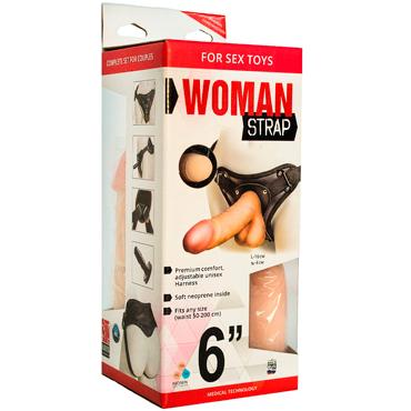 Bioclon Woman Strap 6, телесный Женский пояс с насадками bioclon uni strap универсальный пояс для страпонов