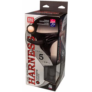 Bioclon Harness Премиум Класс Woman - Cuba 5, черный/телесный Плавки с 2 насадками satisfyer pro heads 5 шт набор дополнительных насадок для satisfyer pro 2