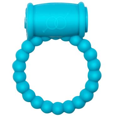 Lola Toys Rings Drums, голубое Эрекционное кольцо с вибрацией фаллоимитатор коди small ванила