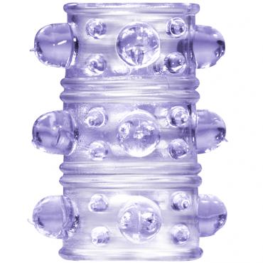 Lola Toys Rings Armour, фиолетовая Стимулирующая насадка на пенис lola toys super hero champion удлиняющая насадка на пенис