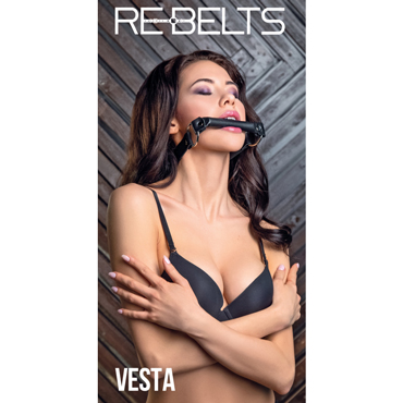 Rebelts Vesta, черный Кляп-трензель erotic fantasy o ring gag кляп расширитель