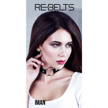 Rebelts Iman, черный Ошейник - расширитель для рта лаковый фаллоимитатор из стекла icicles no 6
