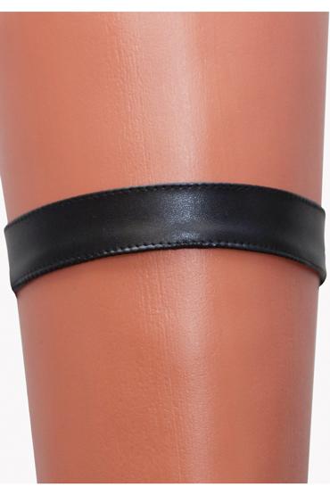 Mens dreams Подвязка №1, черная Из искуственной кожи bioclon вибратор реалистичной формы черный с многоскоростной вибрацией