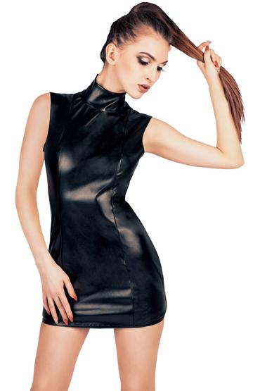 Mens dreams Платье с открытой попкой, черное Из экокожи swiss navy water based 948 мл увлажняющий гель на водной основе