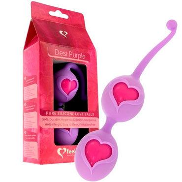 FeelzToys Desi Purple, фиолетовые Вагинальные шарики в силиконовой оболочке erasexa фаллоимитатор рыцарь коричневый большого размера