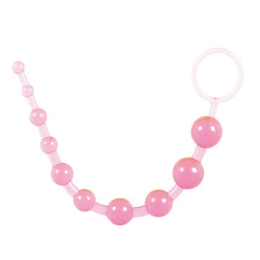 Toy Joy Thai Beads, розовая Анальная цепочка gopaldas анальная цепочка розовая на жесткой сцепке