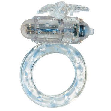 Toy Joy Flutter-Ring, прозрачное Эрекционное виброкольцо shiatsu pheromone man 25мл духи с феромонами для мужчин