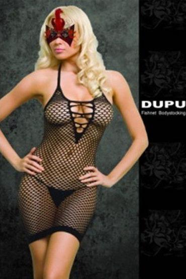 Dupu платье С игривой шнуровкой комбинезон dupu с глубоким вырезом черный os