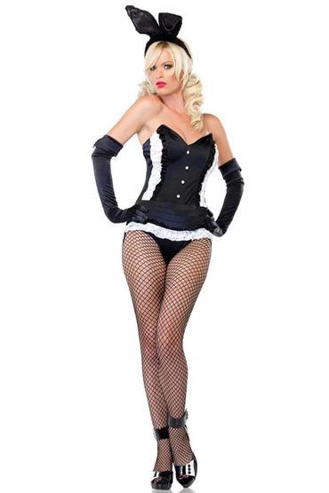 Le Frivole Кролик Боди в виде фрака, перчатки и ушки на ободке le frivole пушистый зайка черный платье ушки воротник и манжеты