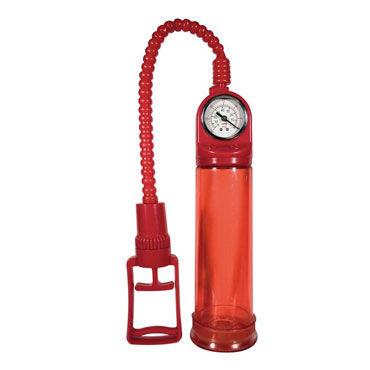 Toy Joy Pump Master, красная Вакуумная помпа с манометром автоматическая мужская помпа apollo automatic power pump серая