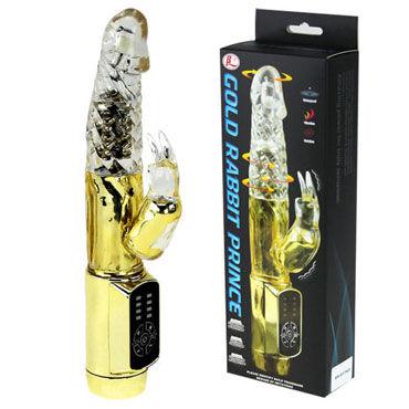 Baile Gold Rabbit Prince Многофункциональный вибратор baile throbbing butterfly многофункциональный вибратор