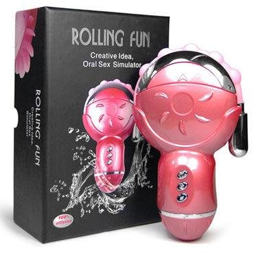 Baile Rolling Fun Клиторальный стимулятор с анальным отростком lux fetish cuffs розовый наручники с мехом