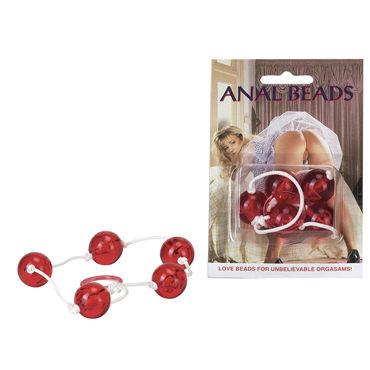 Seven Creations Anal Beads Анальная цепочка с пятью звеньями seven creations bubble wand анальная цепочка