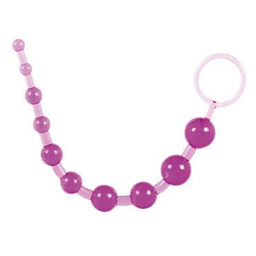 Toy Joy Thai Toy Beads, фиолетовая Анальная цепочка toy joy power perl серый