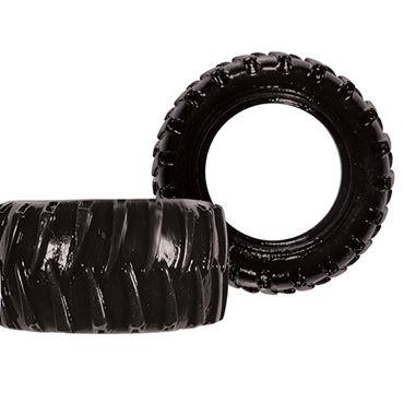 NS Novelties Treads Mens Ring Wide, черное Широкое эрекционное кольцо в виде автошины комбинезон dupu с чулками и кожаными ремнями черный os