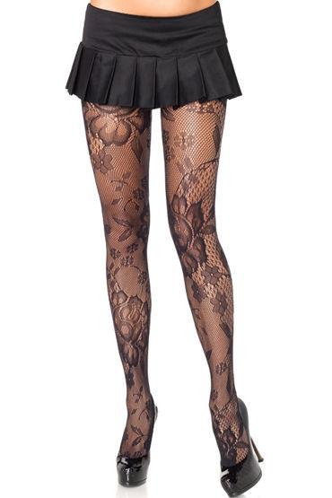 Leg Avenue колготки С цветочным рисунком leg avenue комплект лиф пуш ап и красивые шортики