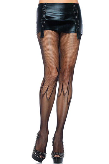 Leg Avenue колготки С узором в виде пламени leg avenue комплект пеньюар в полосочку и стринги
