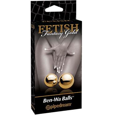 Pipedream Gold Ben Wa Balls Элегантные вагинальные шарики pipedream ben wa balls металлические вагинальные шарики золотого цвета