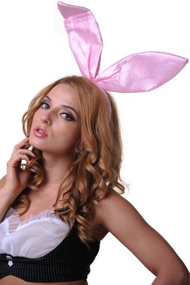 Le Frivole ушки, розовые Из нежного атласа le frivole пушистый зайка черный платье ушки воротник и манжеты