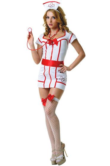 Le Frivole Доктор Сьюзи Платье с поясом, чулки, чепчик и стетоскоп костюм le frivole заботливый доктор s m