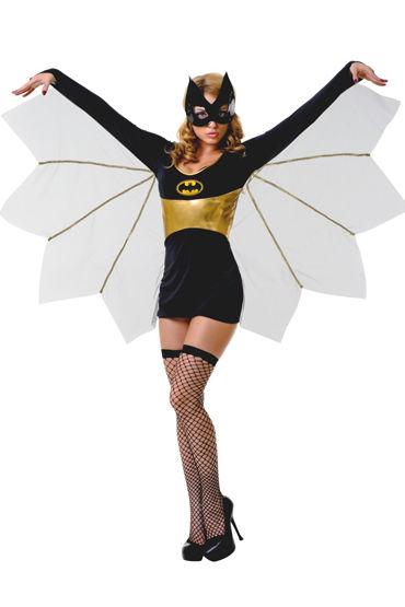 Le Frivole Летучая Мышь Платье с крыльями, маска и чулки le frivole соблазнительная стюардесса платье чулки перчатки и пилотка