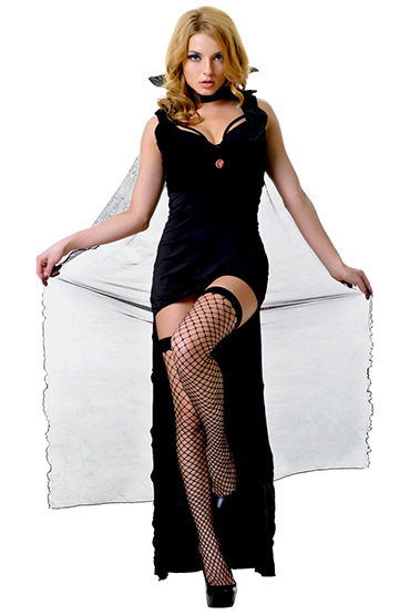 Le Frivole Темный Вампир Платье, накидка с воротником, жилетка и манжеты костюм le frivole гламурная киса