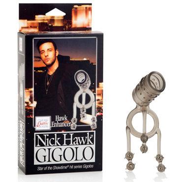 California Exotic Nick Hawk Gigolo Hawk Enhancer Насадка на пенис с кольцом для мошонки erotic fantasy silver rain большой плаг из стали с кристаллом