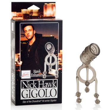 California Exotic Nick Hawk Gigolo Hawk Enhancer Насадка на пенис с кольцом для мошонки california exotic nick hawk gigolo swivel whip многохвостая плеть