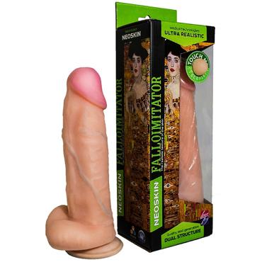 Bioclon Human Form 20 см, телесный Фаллоимитатор реалистик с мошонкой на присоске tonga plugn ride фаллоимитатор с мошонкой на присоске