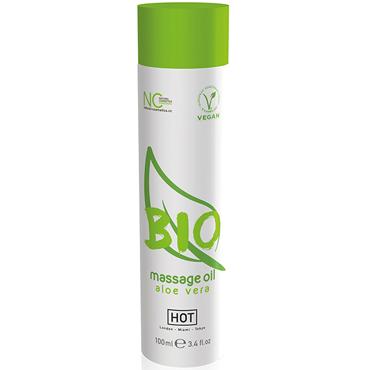 Hot Bio Massage Oil Aloe Vera, 100 мл Органическое массажное масло с алоэ desire массажное масло 150 vk g