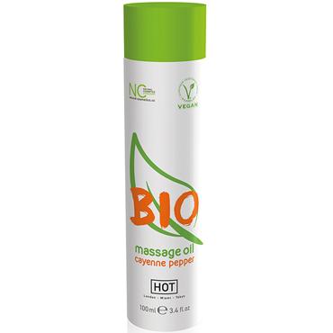 Hot Bio Massage Oil Cayenne Pepper, 100 мл Органическое массажное масло с кайенским перцем wet inttimo invigorate 10 мл массажное масло эвкалипт и лимон