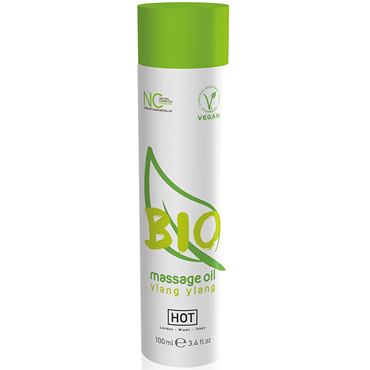 Hot Bio Massage Oil Ylang Ylang, 100 мл Органическое массажное масло с иланг-иланг фанты масло в огонь серия рецепты страсти