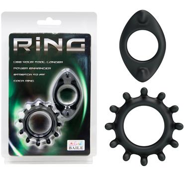 Baile Ring два кольца A, черный Набор эрекционных колец topco adam male toys sex shooter cock rings набор эрекционных колец