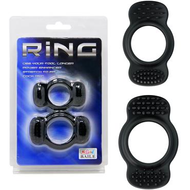 Baile Ring два кольца В, черный Набор эрекционных колец topco adam male toys sex shooter cock rings набор эрекционных колец