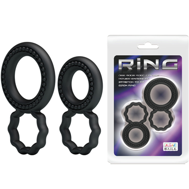 Baile Ring два кольца С, черный Набор эрекционных колец topco adam male toys sex shooter cock rings набор эрекционных колец