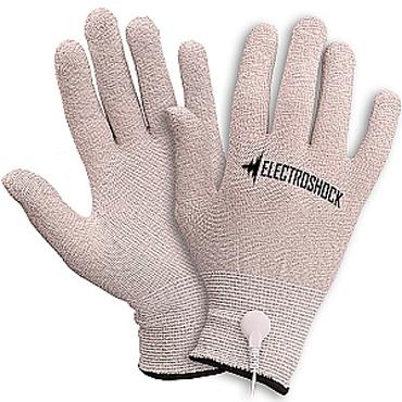 Shots Electroshock E-Stimulation Gloves, серые Перчатки для электромассажа перчатки с миостимуляцией magic gloves