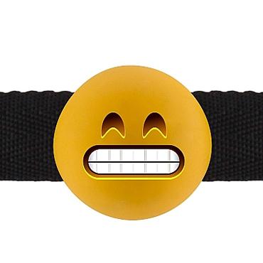 Shots Grinning Emoji, желтый Кляп с ухмыляющимся смайлом игрушка для анального секса sex machine partsfemale g twi v00066