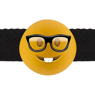 Shots Nerd Emoji, желтый Кляп с эмоцией кляп намордник с фиксацией на голову head harness